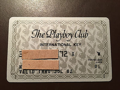 Playboy Club 1982 vintage International Key card