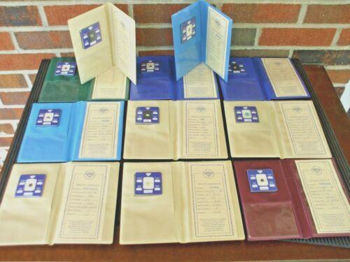 Lot of 11 Gemstones w/ Gem Data Certificate Folder Souvenir Certified