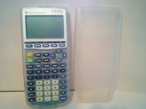 Texas Instruments Clear TI-83 Plus Silver Edition Calculator For Parts/Repair