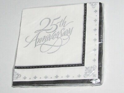 Stafford Silver 25th Anniversary Luncheon Napkins 16/pk #661046 ()