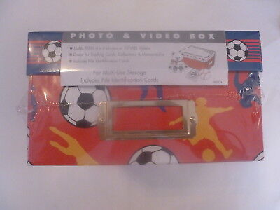 SPORTS THEME PHOTO & VIDEO BOX includes file identification cards NEW WRAPPED