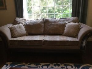 Traditional Wood-Frame Couch