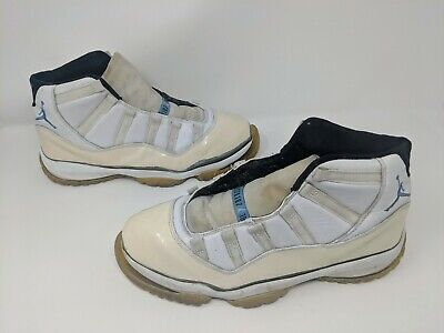 RARE 2001 Nike Air Jordan 11 Sz 10.5 White Columbia Blue UNC Retro XI 136046-142