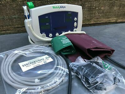 Welch Allyn 53oto Patient Monitor New Battery Temp Nibp Adult Child Cuffs