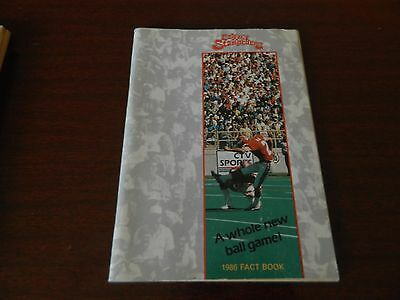 1986 Calgary Stampeders Fact book Guide CFL nice*clean