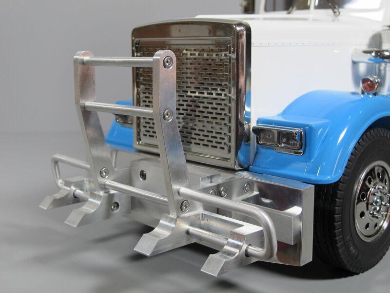 Aluminum Front Hook Style + Bumper Guard Tamiya RC 1/14 King Grand Knight Hauler