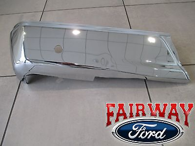 15 thru 19 Ford F150 OEM Genuine Ford Rear Chrome Step Bumper w/ Prox Sens LEFT, used for sale  Canfield