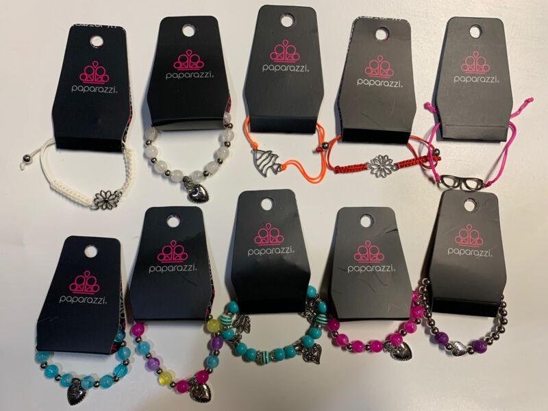 "Paparazzi - Starlet Shimmer - Bracelets -  Kids - Lot of 10 - Pack 12- ""NEW"" Nwt"