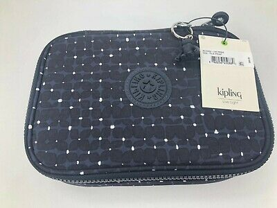 Kipling 100 Pens Pencil Case Tile Print new