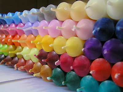 2 Durchgefärbte Stabkerzen, verschiedene Farben, Altarkerze, Ritualkerze
