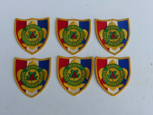 Group of 6  Unused Vintage SCHIFF SCOUT RESERVATION Boy Scout BSA Pocket Patches