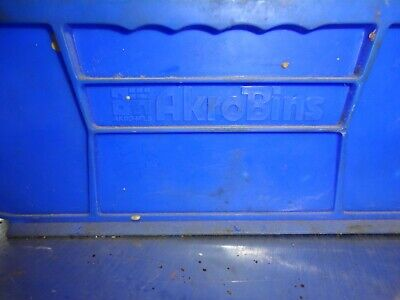 Akro Bins Stackable Storage Bins Blue