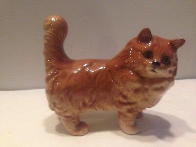 "Beswick  Persian Ginger Cat  Model No. 1898  5"" Albert Hallam  Ex. Con."