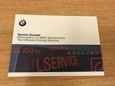 BMW SERVICE BOOK BRAND NEW GENUINE FOR ALL PETROL AND DIESEL CARS OEM