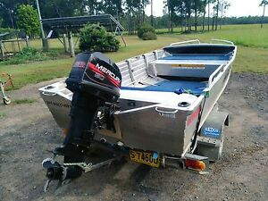 Tinnie 3950 Bermuda/quintrex with 20hp mercury(USA) Casino Richmond Valley Preview