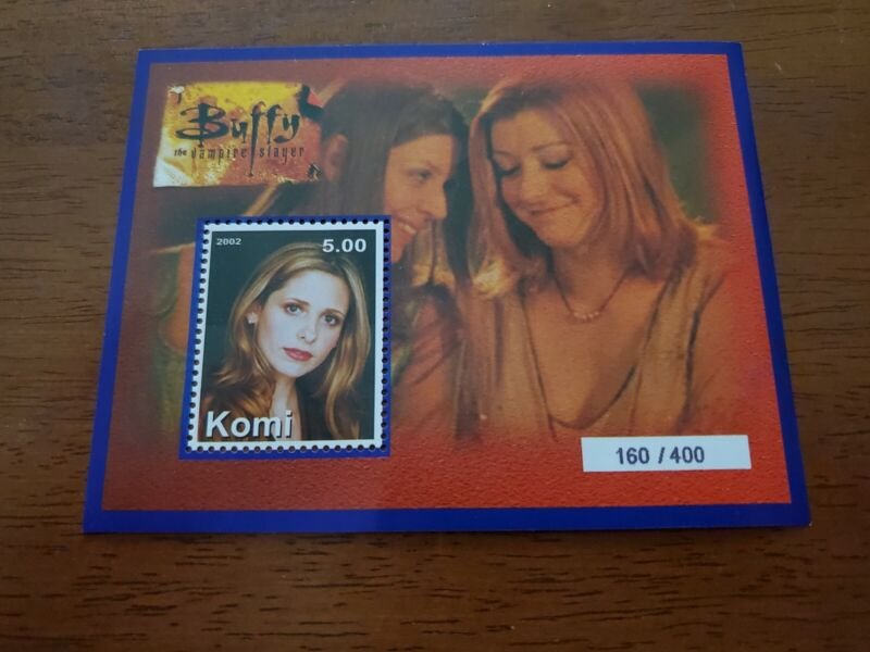 RARE Buffy The Vampire Slayer Collectible Stamps 160 of 400 Willow and Tara