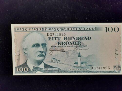 1957  100 KRONUR ICELAND  P 40a