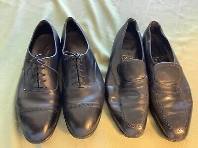 2 pair JOHN LOBB Size 13 us cap toe oxfords loafers refurbish fixers