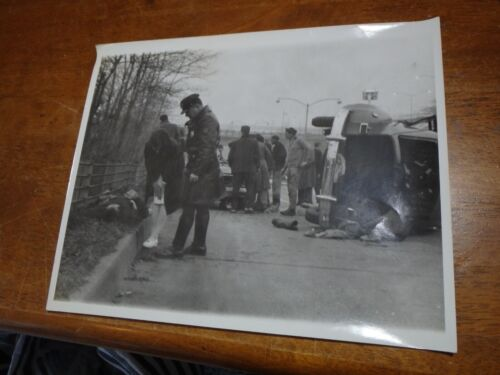 HIGHWAY PATROL STATE TROOPER POLICE AUTOMOBLE ACCIDENT CONNECTICUT POLICE  1930S