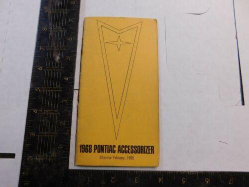 1968 PONTIAC ACCESSORY BOOKLET