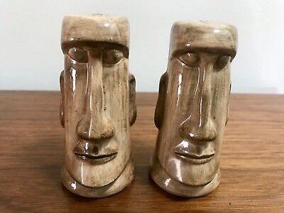 Vintage Kahiki Supper Club Tiki Easter Island Head Salt Pepper Shakers Columbus for sale  Lakewood