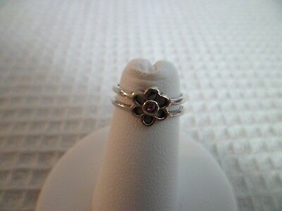 Sterling Silver Open Toe Ring Adjustable Style 10 FlowerP w/GiftBox/Giftbag Gift