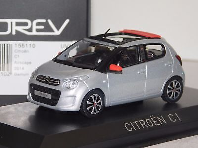 CITROEN C1 AIRSCAPE 2014 GREY RED NOREV 155110 1/43 for sale  Shipping to Canada