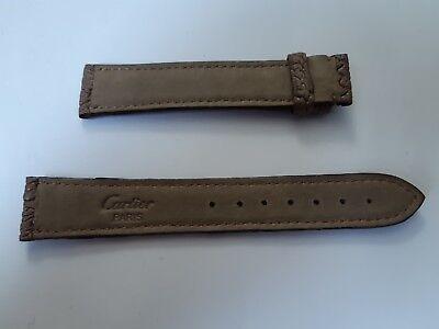 Cartier  bracelet en cuir graine couleur beige taille 18 et 16 a la boucle