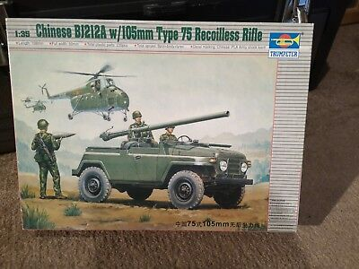 Trumpeter 1/35 Chinese BJ212A with 105mm Type 75 Recoilless Rifle # 02301