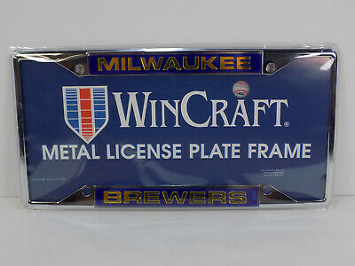 NEW WINCRAFT Milwaukee Brewers MLB Metal Laser Cut License Plate Frame