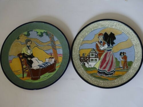 TWO VINTAGES PLATERS FRENCH FAIENCE ART DECO the french usages