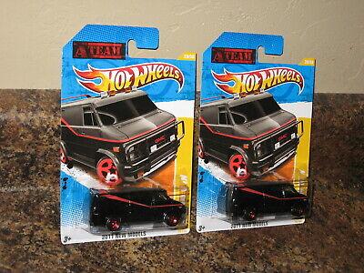 Hot Wheels Lot of 2 A Team Van 2011 New Models Black 1983 GMC Panel Replica '83