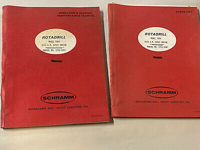 Vintage Schramm Rotadrill Oil Water Well Drill Rig Manual Parts List T66h