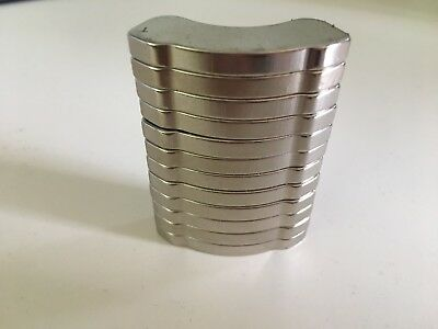 Lot Of 12 Thick Neodymium Rare Earth Hard Drive Magnet