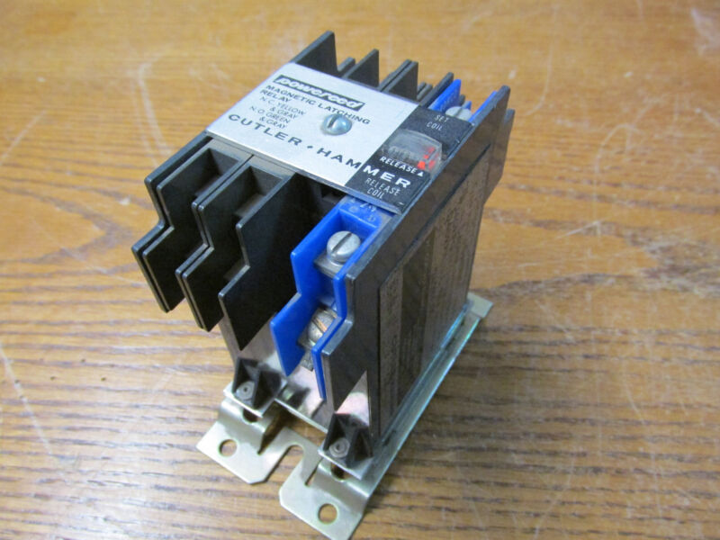 Cutler Hammer D40RM Powereed Magnetic Latching Relay  Coil: 24-28VDC