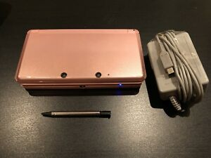 Pink Nintendo 3DS Console, Charger & stylus