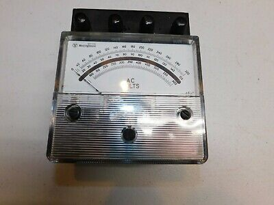Vintage Westinghouse Amperes Type Pa-141 Ac Volts Steampunk Gauge Volts Display