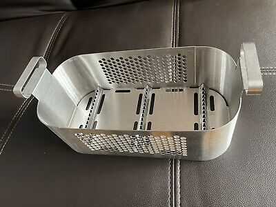 Dental Ultrasonic Cleaner Basket Stainless Steel Whandles