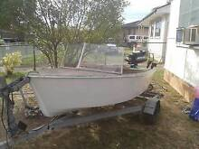 """10 Ft Boat / 4hp Mercury  ( Known as """"Noah's Tender"""" ) Whalan Blacktown Area Preview"""