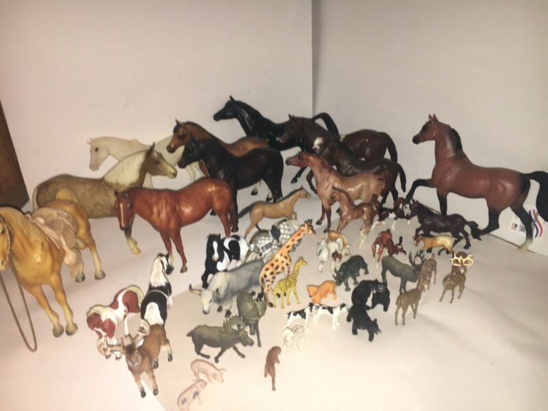 Lot of Vintage Play Horses Various Animals and sizes - Horse Models - Nice Lot!