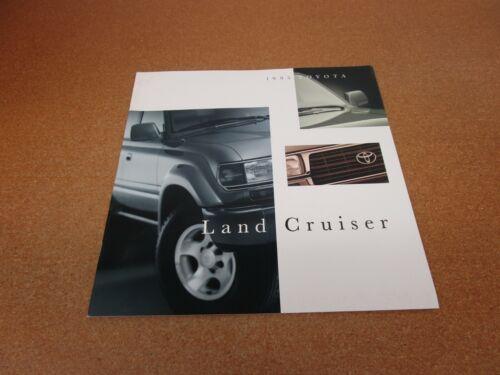 ORIGINAL 1995 Toyota Land Cruiser sales brochure 18 page dealer literature