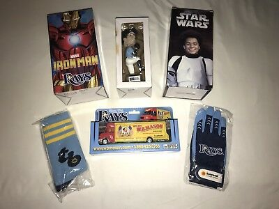NEW Tampa Bay Rays Marvel Ironman Bobblehead Snell Archer Die cast Socks (Ironman Tampa)
