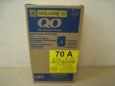 New Square D Circuit Breaker Load Center Q02-4l70s G02 Free Shipping