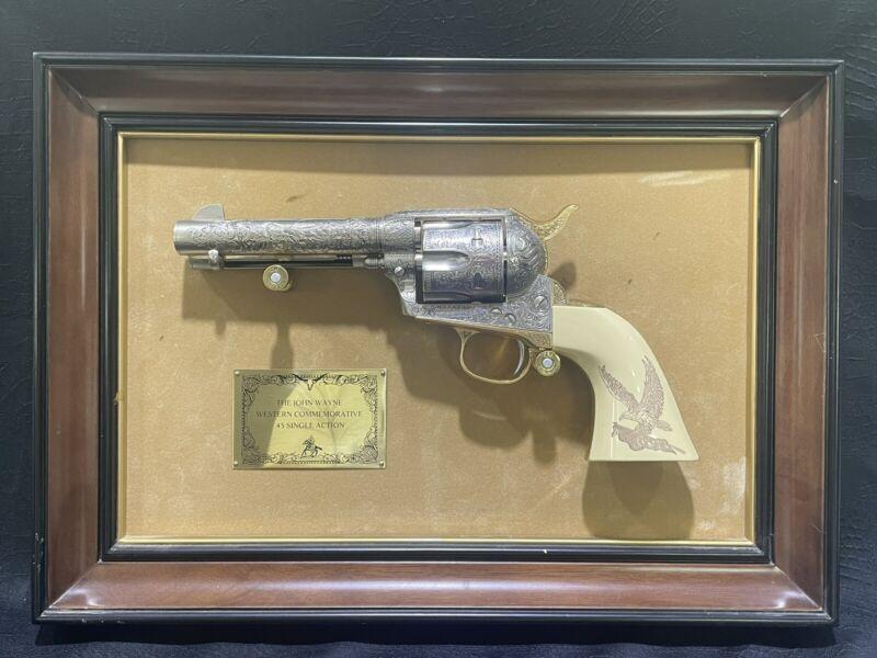 Franklin Mint John Wayne Western Commemorative .45 Colt Single Action Revolver