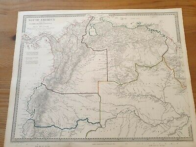 Vintage Map Of Northern South America