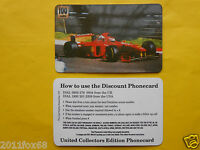 Phone Cards 100 Units Ferrari Formula 1 Schede Telefoniche 1998 Telefonkarten Gq - ferrari - ebay.it
