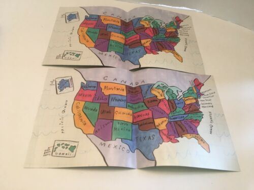Scrambled States of America Game Replacement Parts 4 U.s. Maps
