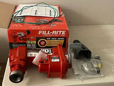Fill Rite Fr4204h 12 Volt 20 Gpm Fuel Transfer Double Cast Iron Housing Pump Red