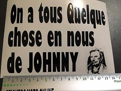 Johnny Hallyday Tennesse Tributo Adhesivo Pegatina Moto Coche Carrocería