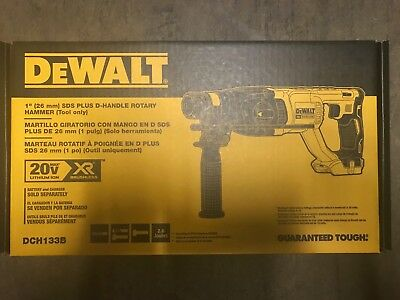 Dewalt Dch133b 20v Max Xr Brushless 1 D-handle Rotary Hammer Drill